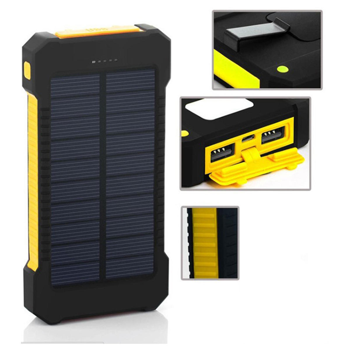 Solar Panel Led Dual Usb Ports Diy Power Bank Case Battery Charger How To Build Powered Mobile Phone