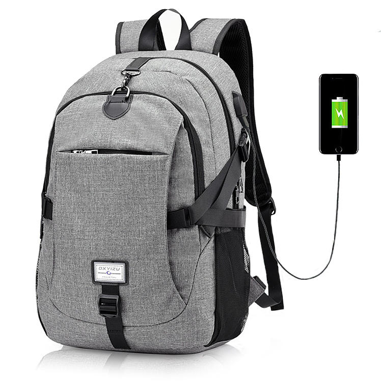 Canvas Anti Theft Travel Backpack with USB Charging port